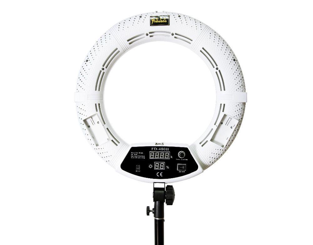 Yidoblo RU shipping FD-480II white Bi-color Photo Studio Ring Light LED Video Lamp Photographic Lighting 96W 5500K 480LED Lights