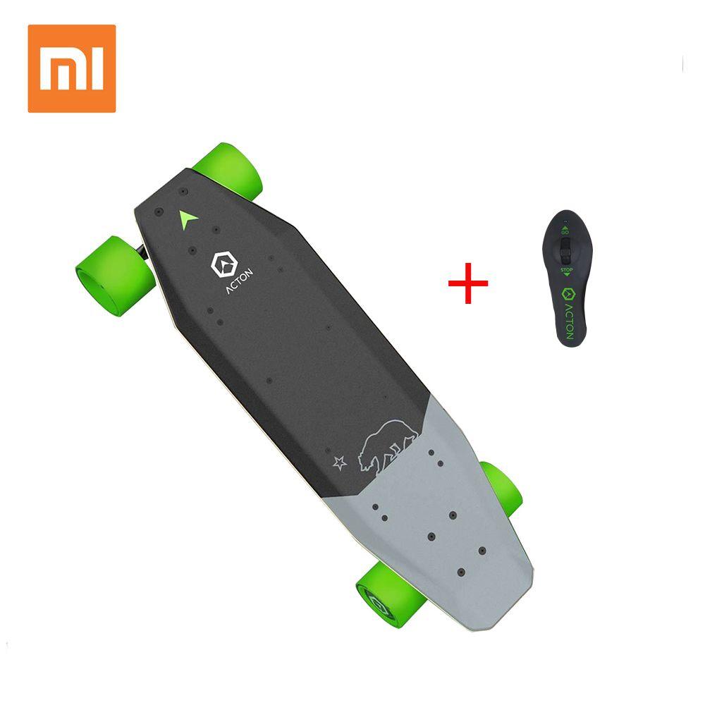 Xiaomi ACTON Intelligente Drahtlose Fernbedienung Elektrische Skateboard LED Licht 12 Km Ausdauer 100 ~ 240V für 16 zu 50 jahr Alt