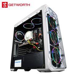 GETWORTH S9 AMD Desktop Ryzen5 1600 GTX1060 6G MSI B350M Intel 256G SSD 8G RAM Free RGB Fans PUBG Accpet Customization White
