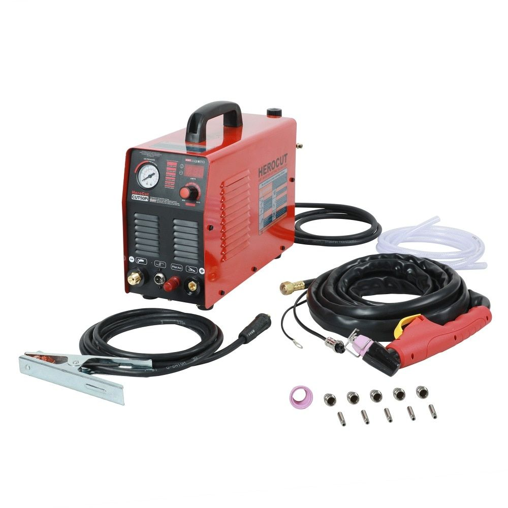 IGBT Pilot Arc HF CUT50Pi 50Amps DC Air Plasma Cutter Plasma cutting machine Cutting Thickness 14mm Clean Cut