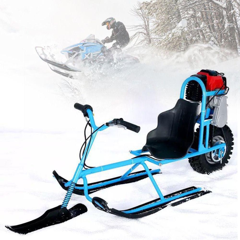 Elektrische Skifahren Fahrzeug Single Board Kraftstoff Snowmobile Directional Schnee Schlitten Skifahren Boards Für Kinder Skifahren Ausrüstungen Sicherheit
