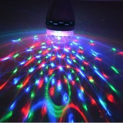 Led RGB Mini Stage Light E27 AC 85-265V Magic Crystal Ball Lamp 3W Laser Light 220V 110V Christmas Dance Party Lantern Projector