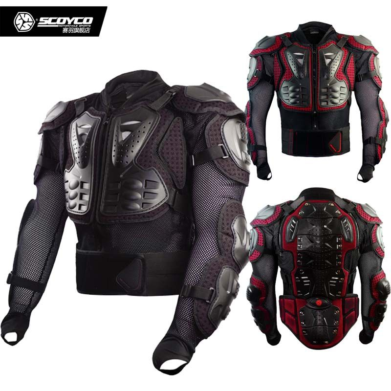 SCOYCO AM02-2 Motocross Body clothing equestrian motorcycle protector moto protecto off-road motorbike chest armor jacket