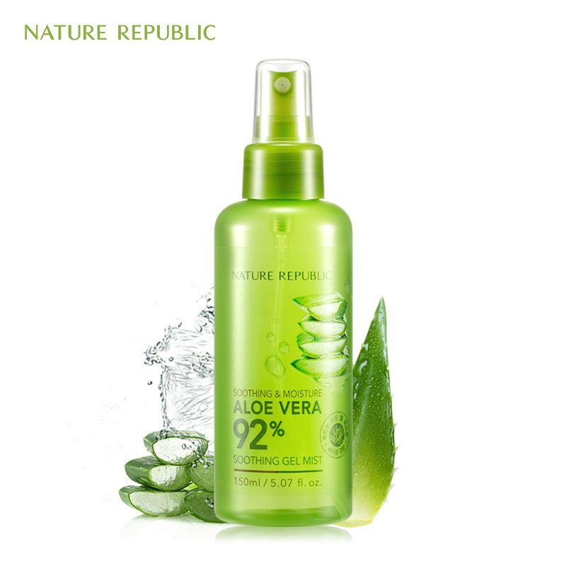 Nature république 150 ml tonique pour le visage apaisant & hydratant Aloe Vera 92% Gel apaisant brume aloès hydratant vaporisateur