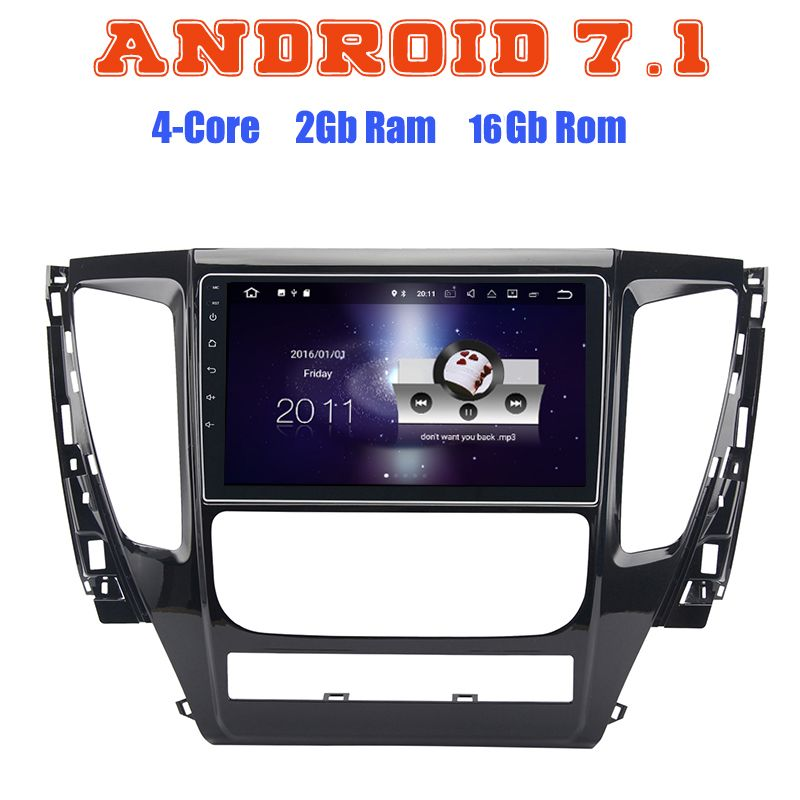 Android 7.1 Quad core car radio gps for Mitsubishi pajero sport MQ Triton 2017 with 2G RAM wifi 4G USB radio RDS audio stereo