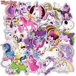 30 Pcs Colorful Cute Unicorn Stickers for Laptop Car Styling Phone Luggage Bike Motorcycle Mixed Cartoon Pvc Waterproof Sticker