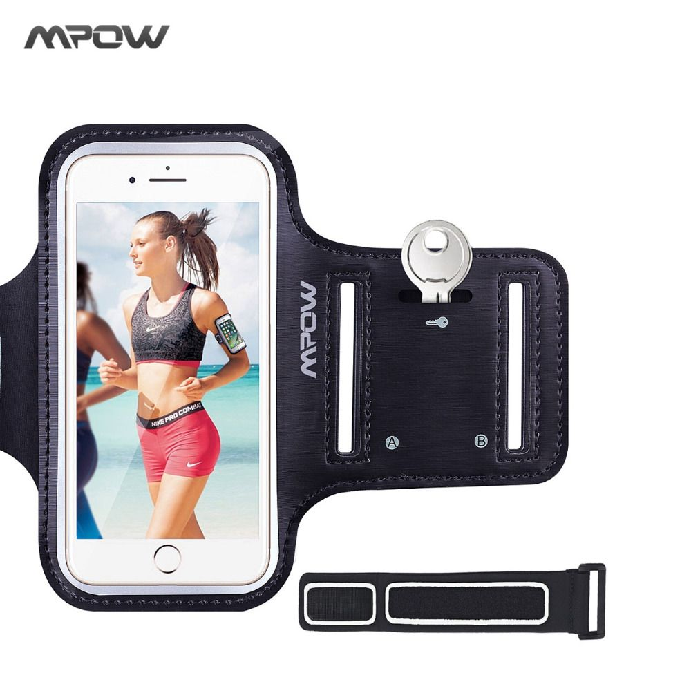 Mpow Sports GYM Armband belf For iphone 8 7 6 6s PVC Sweatproof Touch Screen Arm band Wristband Reflective Strip with Key Holder