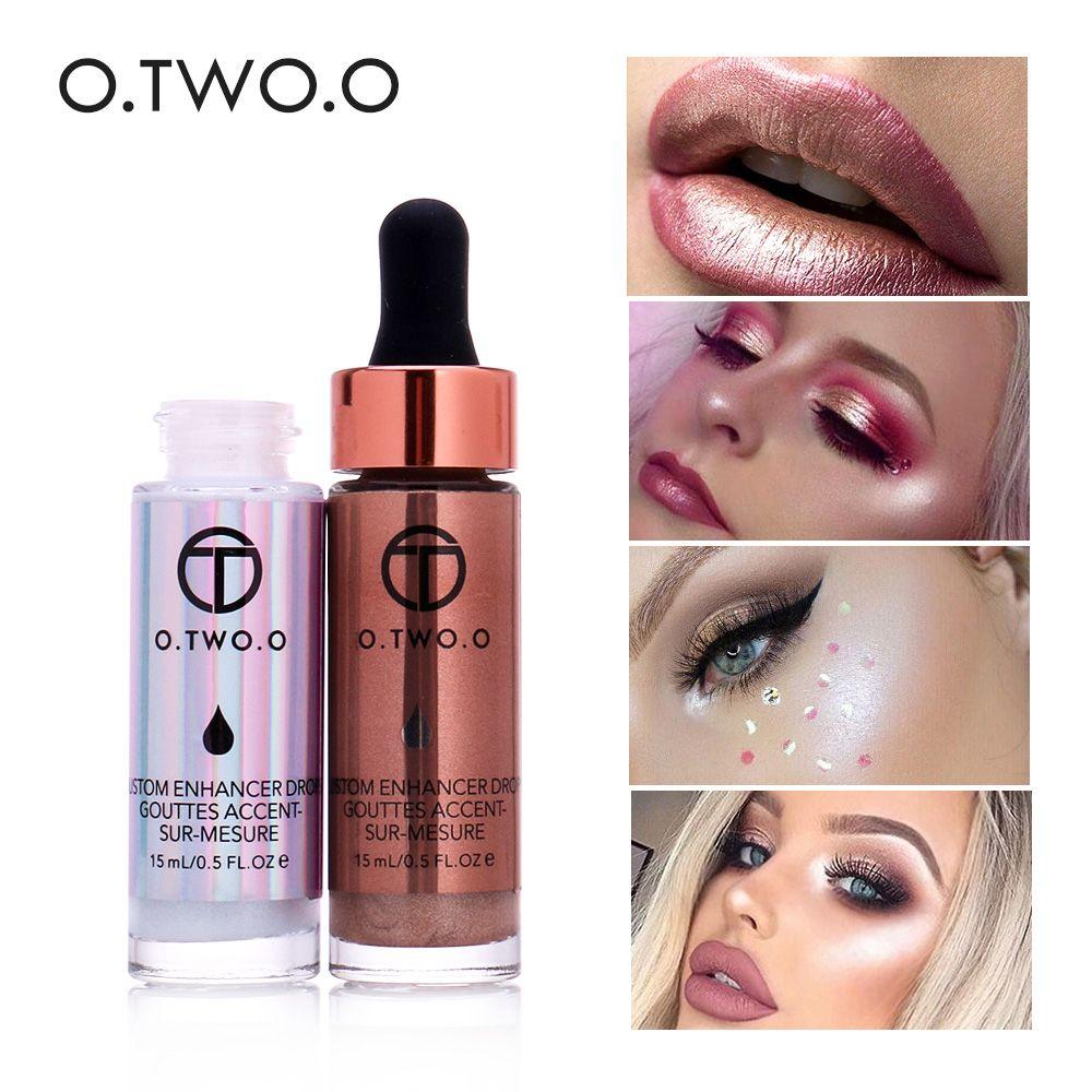 O. DEUX. O Liquide Surligneur Éclairer Maquillage Crème Shimmer Contour Bronzer Shinning Corps Visage Lueur Point Culminant 6 Couleurs