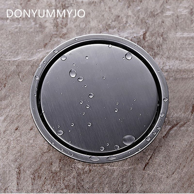 DONYUMMYJO 304 en acier inoxydable salle de bain Drain de sol grille ronde égouttoir de sol