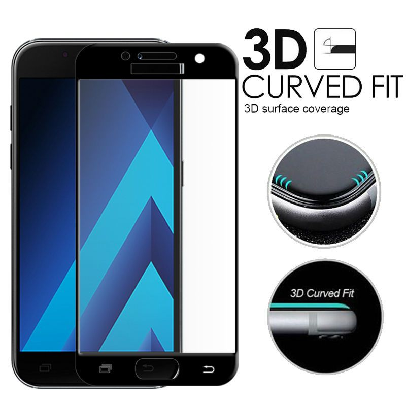 2017 Full Cover 3D Edge Curved Tempered Glass For Samsung Galaxy A3 2017 A320 A320F/FL A320FL A320Y Screen Protector Protective