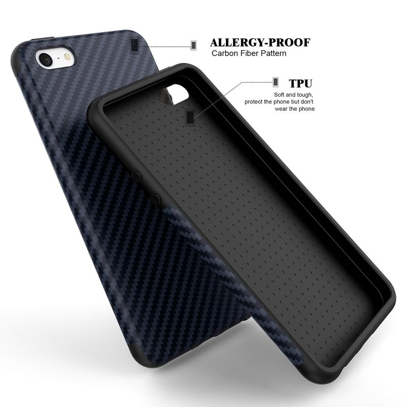 Luxury Elegent High Quality Carbon Fiber Soft Case For iPhone 5 5S SE Leather Skin 3D Texture Tire Defender Cover For iPhone SE