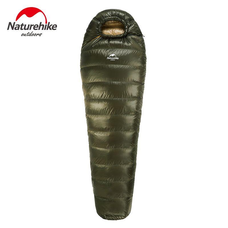 NatureHike Winter Warme Mumie Typ Ente Daunenschlafsack Camping Wandern Ausrüstung Slaapzak Familie 400/800/1000g