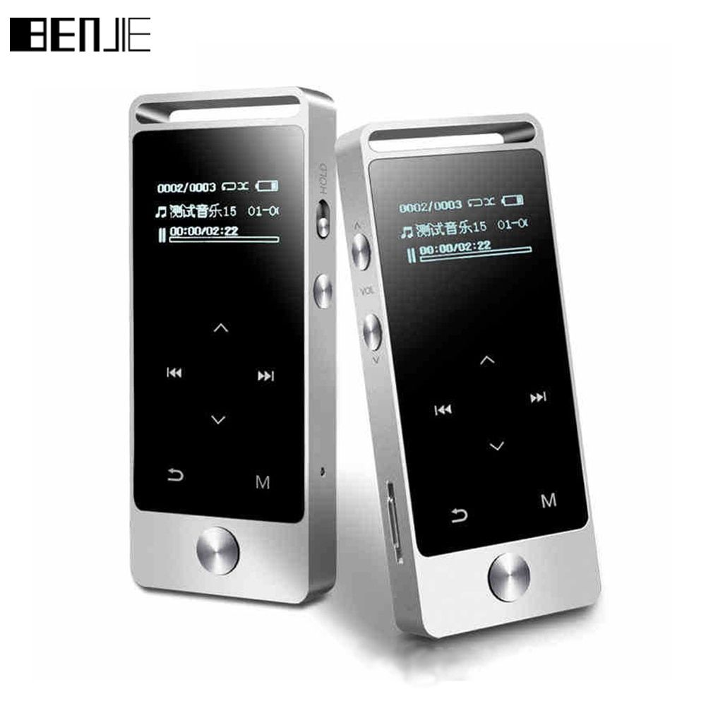 Original Touch Screen HIFI MP3 Player 8GB BENJIE Metal High Sound Quality Entry-level Lossless Music Player Support TF <font><b>Card</b></font> FM
