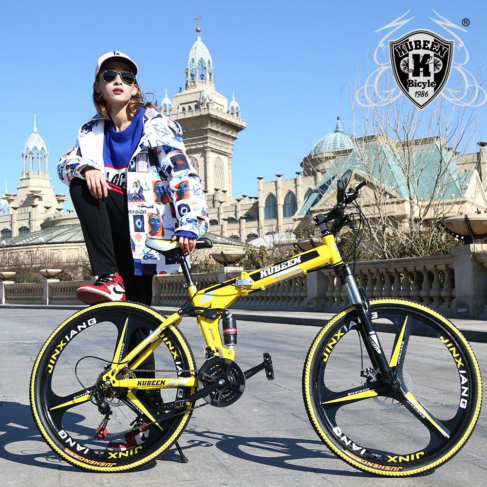 KUBEEN VTT 26-pouces en acier 21-vitesse vélos à double freins à disque à vitesse variable vélos de route vélo de course