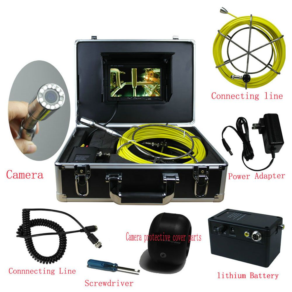 20M Sewer Waterproof Camera Pipe Pipeline Drain Inspection System 7