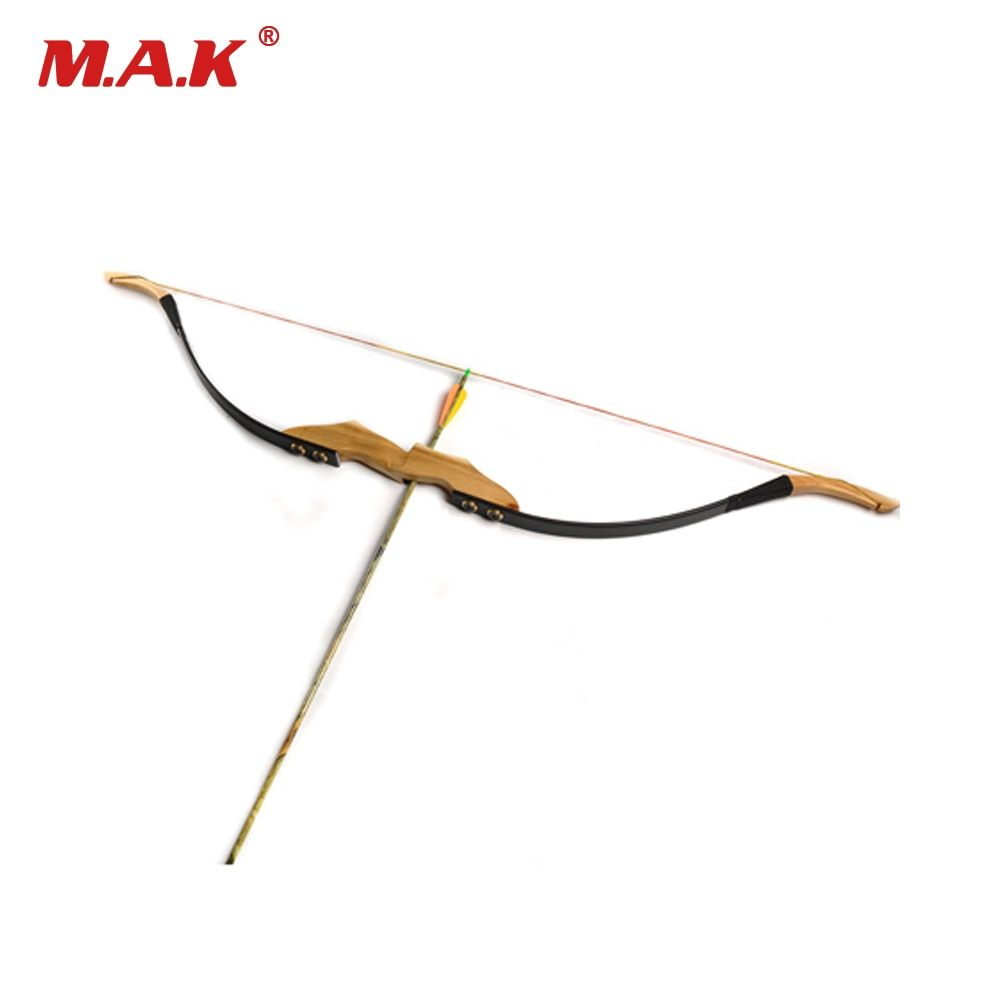 Traditional Mongolian Recurve Bow 30/40 Lbs with Wooden Handle and Rest for Right/Left Hand User Archery Hunting/Shotting