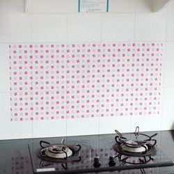 Melawan panas Kreatif Dapur Stiker Kabinet Kompor Minyak Bukti Tahan Air Dekorasi Rumah Wall Sticker Ornament untuk Ubin 45x90 cm