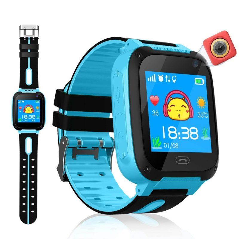 Étanche enfants montre intelligente Micro SIM carte appel Tracker enfant caméra Anti-perte Position alarme montre intelligente