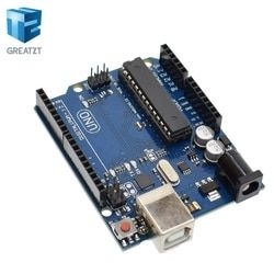GREATZT 1set uno r3 MEGA328P ATMEGA16U2(with logo) for Arduino Compatible without USB Cable