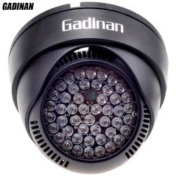 GADINAN 12V 48 LED illuminator Light IR Infrared Night Vision Assist LED Lamp ABS Plastic Housing For CCTV Surveillance Camera