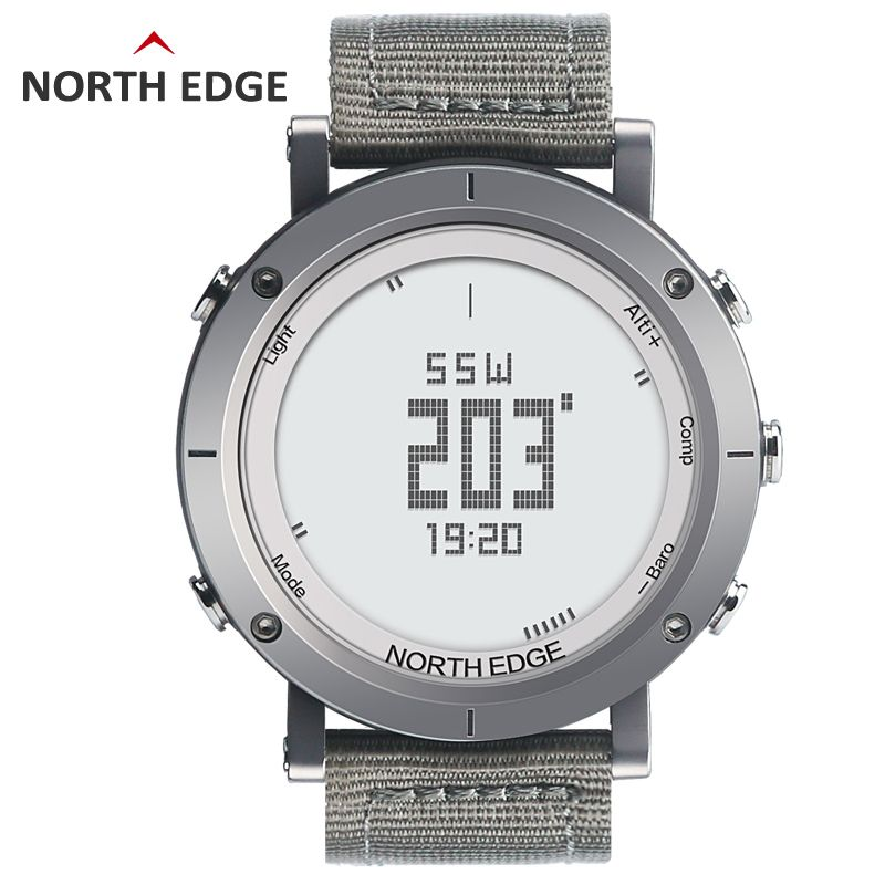 NORTHEDGE digital watches Men sports watch <font><b>clock</b></font> fishing Weather Altimeter Barometer Thermometer Compass Altitude hiking hours