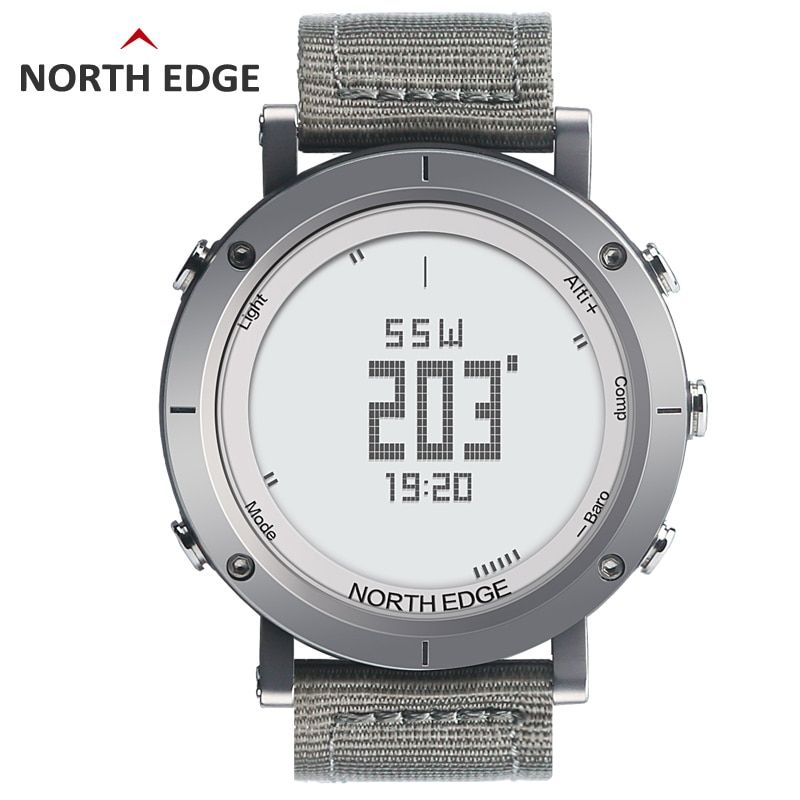 NORTHEDGE digital watches <font><b>Men</b></font> sports watch clock fishing Weather Altimeter Barometer Thermometer Compass Altitude hiking hours
