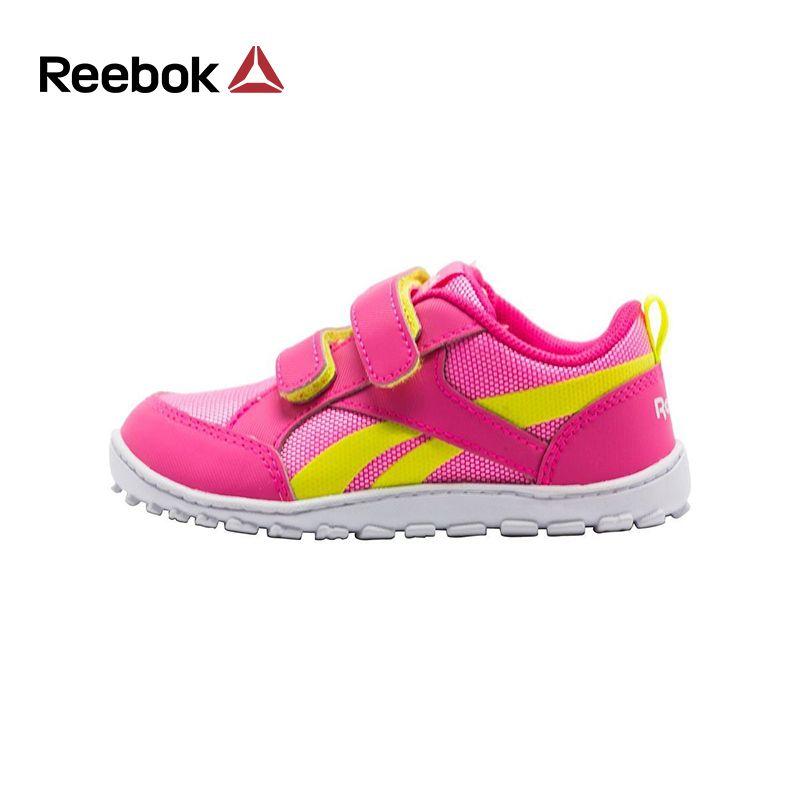 Reebok для девочек спортивная обувь ventureflex Chase Повседневное плоской подошве крюк-петля Бег Спортивная обувь Элитный бренд маленьких firstwalkers
