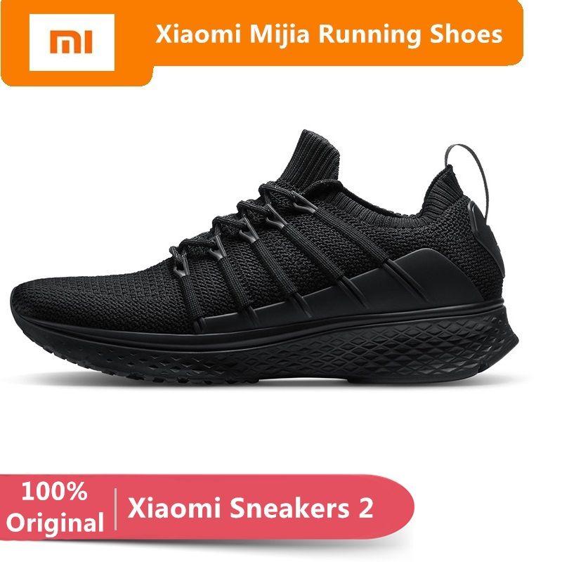 D'origine Xiao mi mi jia Baskets 2 hommes Sports De plein air Chaussures mi intelligent sneaker Élastique Respirant à Tricoter Vamp Chaussures de Course
