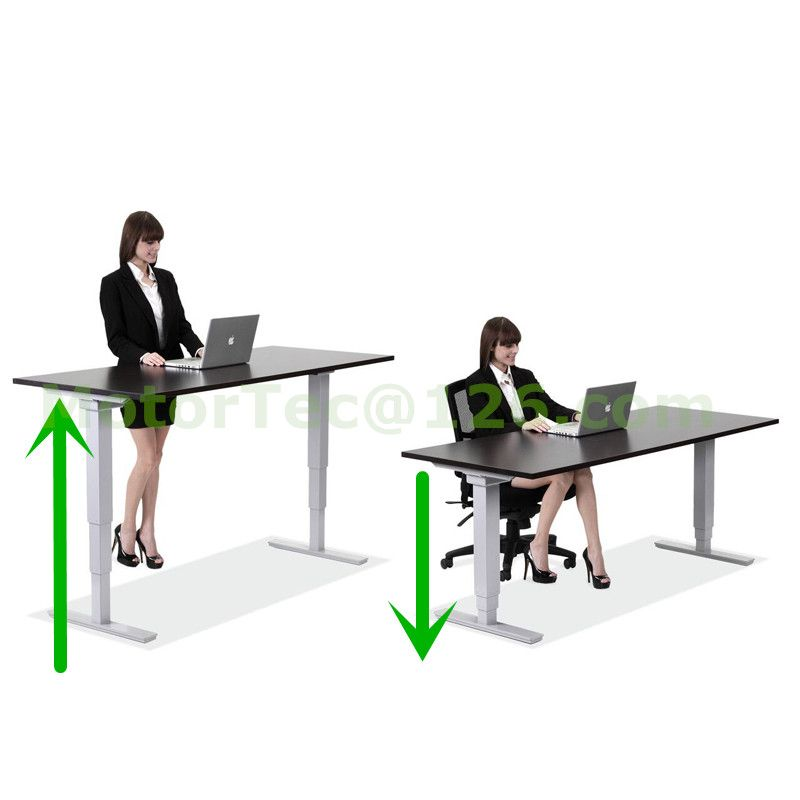 Electric Height Adjustable desk 110V 220V input free shipping to North America