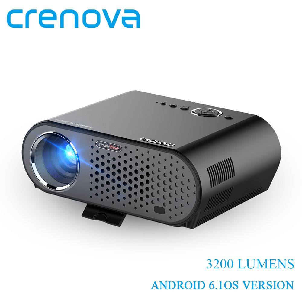 CRENOVA GP90UP 3200 Lumens Video Projector For Home Theater Beamer Full HD 1080P With WIFI Bluetooth Android 6.1OS Version