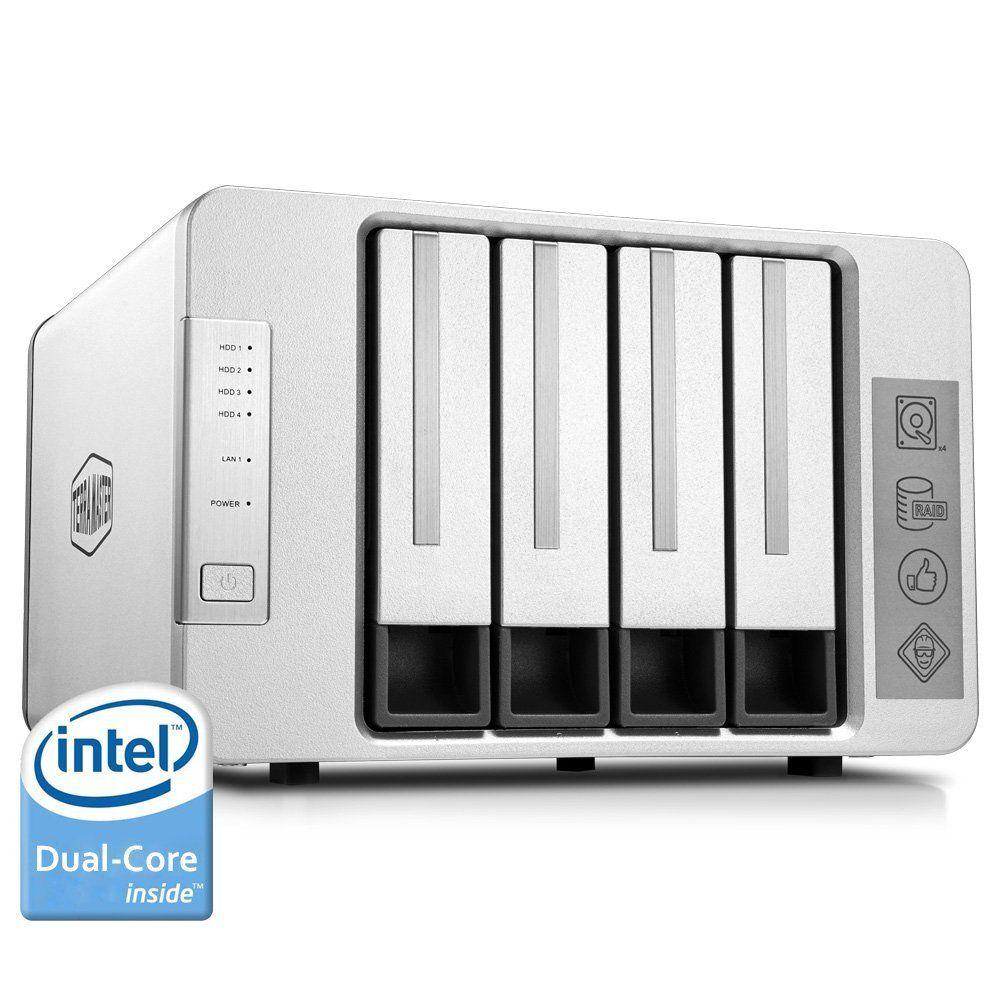 Terramaster NAS Networking Storage 4 Bays Nas Server Intel Dual Core 2.41GHz Nas Serwer Support RAID 0 RAID 1 RAID5 (DISKLESS)