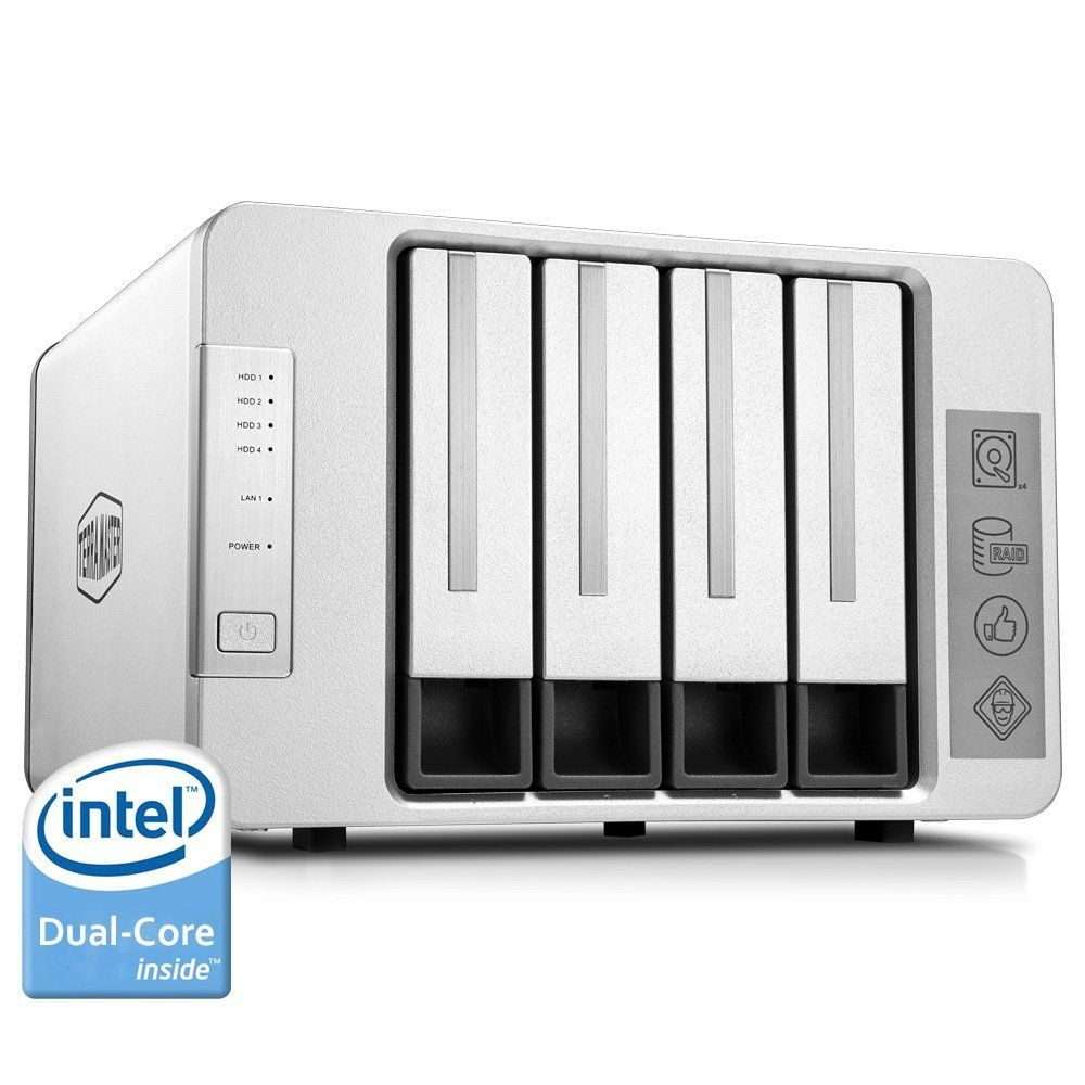 Terramaster NAS Networking Storage 4 Bays Nas Server Intel Dual Core 2.41GHz Nas Serwer Support RAID 0 RAID 1 RAID5 (DISKLESS)