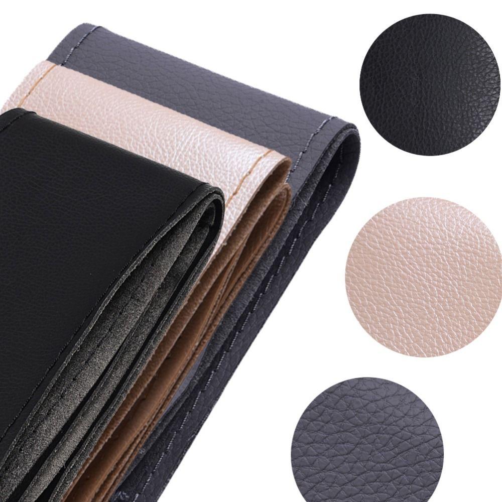 1 pièces noir gris Beige bricolage peau de vache en cuir véritable couverture de volant de voiture avec aiguilles et fil style non poreux