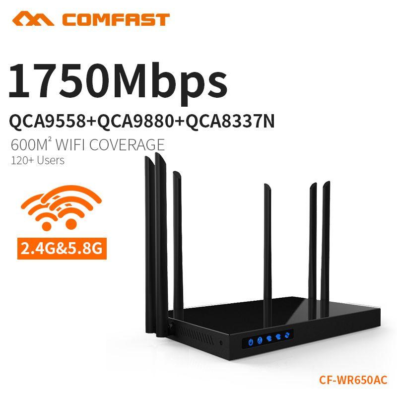 COMFAST WIFI routeur 1750 Mbps double bande 2.4G/5G point d'accès USB chargeur wifi routeur sans fil système intelligent contrôle CF-WR650AC