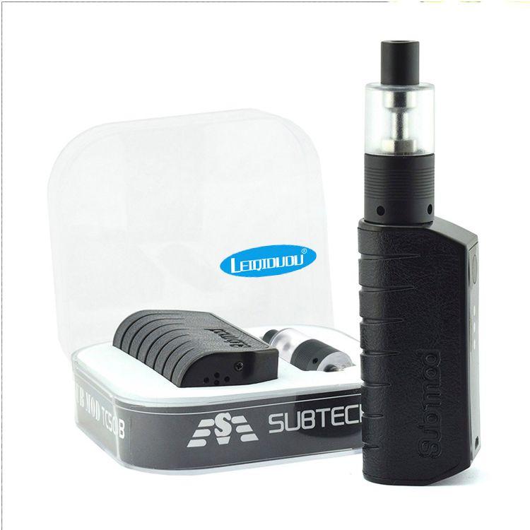 LEIQIDUDU Sub e cigs Mod TC50B Leather skin 50W E Cigarette mod with H9 Atomizer 2200mAh MOD electronic Cigarette Vaporizer
