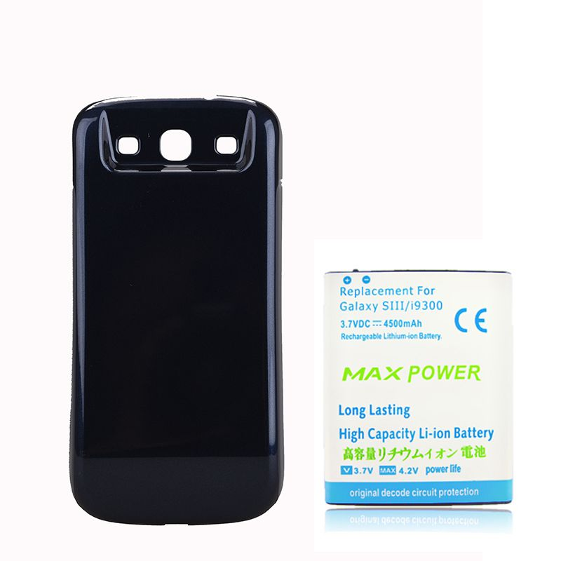 4500mAh Extended Battery with Dark Blue back case cover For Samsung Galaxy S3 i9300