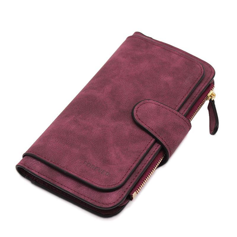 Marque en cuir femmes portefeuilles de haute qualité Designer portefeuille à fermeture éclair femmes porte-carte dames sac à main sac d'argent Carteira Feminina