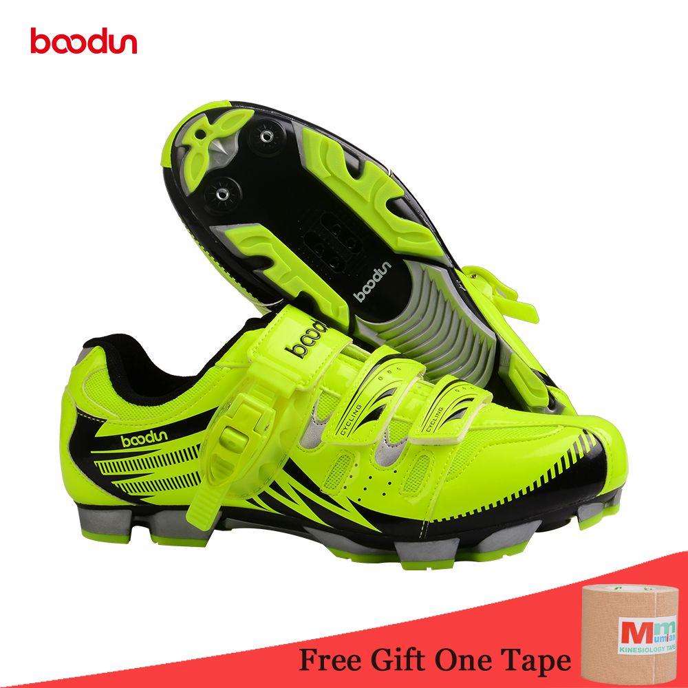 BOODUN New Breathable Professional Self-locking Cycling Shoes MTB Bicycle Shoes Non-slip Bike Shoes Sapatos de ciclismo EU35-46