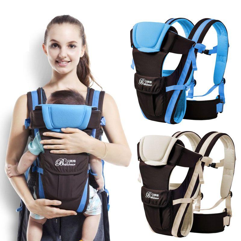 Beth Bear 0-30 months baby carrier, ergonomic kids sling <font><b>backpack</b></font> pouch wrap Front Facing multifunctional infant kangaroo bag