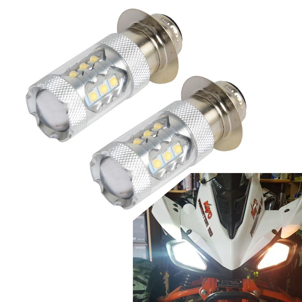 2 pièces 80 W Super blanc LED phares ampoules mise à niveau pour Yamaha vtt YFM350 400 450 660 700 Raptor Blaster 200 Banshee 350