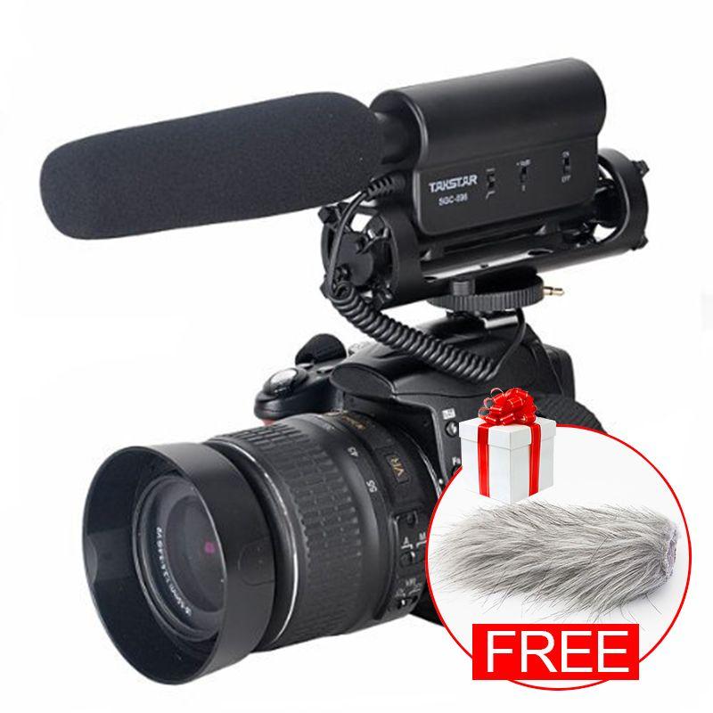 Original TAKSTAR SGC-598 Photography Interview Shotgun MIC Microphone for Nikon Canon DSLR Camera for Vloggers/Videomaker