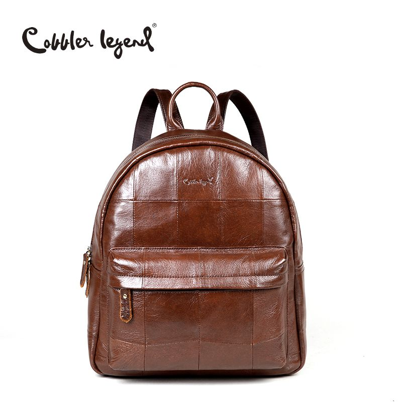 Cobbler Legend Original Brand Women Daily Backpack For Girls Genuine Leather Backpack 2017 New Fashion Large Capacity Travel Bag