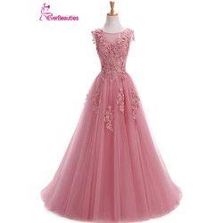 Robe De Soiree Abendkleider Lange Plus Größe Tüll Prom Lace Up Perlen Kleid Vestidos De Festa Elie Saab Abendkleider 2019 Abiye