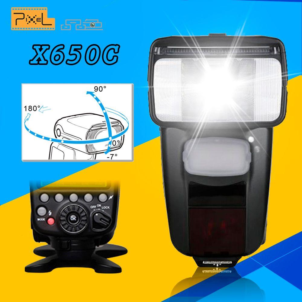 Pixel Wireless TTL HSS LCD GN65 Flash Speedlite X650C For Canon 70D 650D 6D 1100D 60D 550D 600D 7D Mark II 5D Mark III 100D 700D