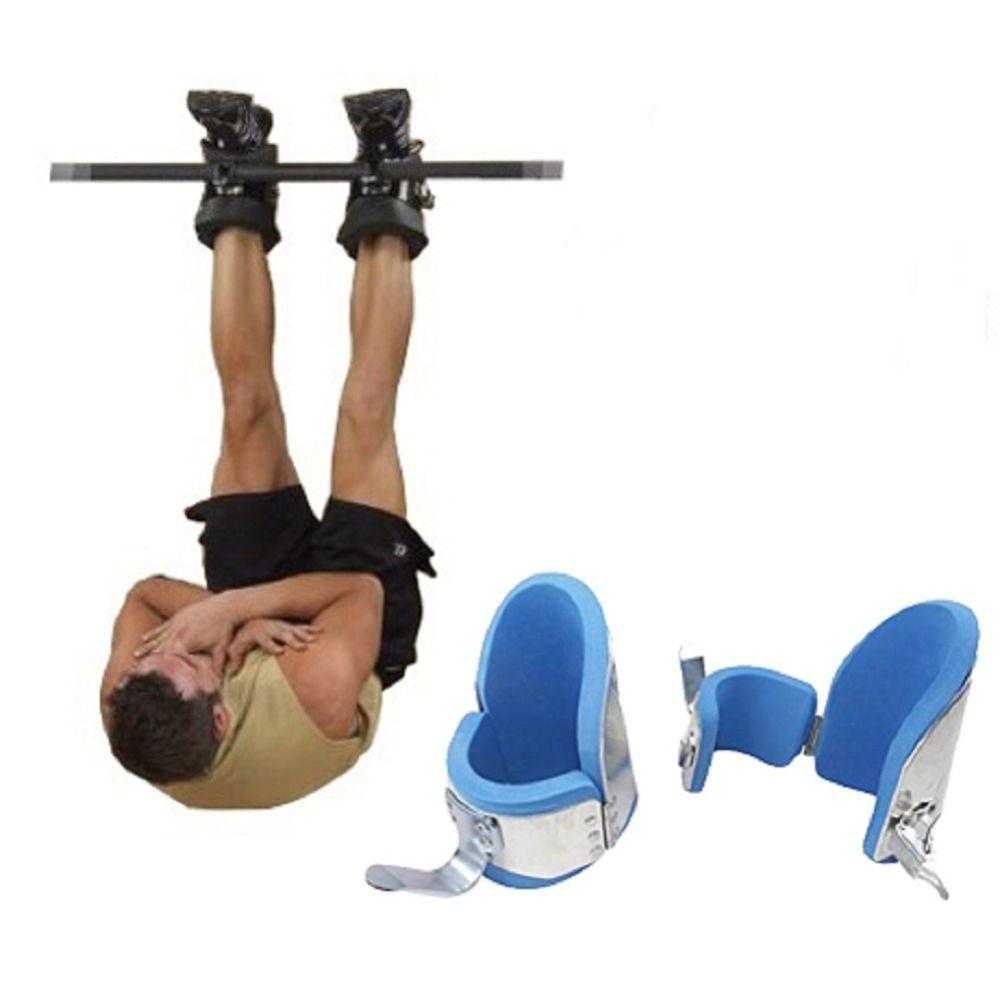 Neue Fitness Inversion Schwerkraft Stiefel Bodybuilding Crossfit Sicherheitsverriegelung Mechanismus Therapie Stiefeletten Gym Auflegen Haken