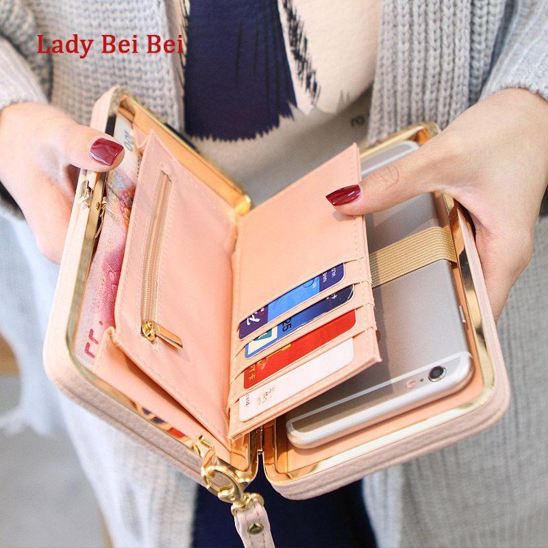 Porte-monnaie portefeuille femme célèbre marque porte-cartes téléphone portable poche cadeaux pour femmes argent sac embrayage