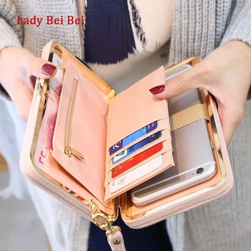 Purse wallet female famous brand card holders cellphone pocket gifts for women money bag <font><b>clutch</b></font>