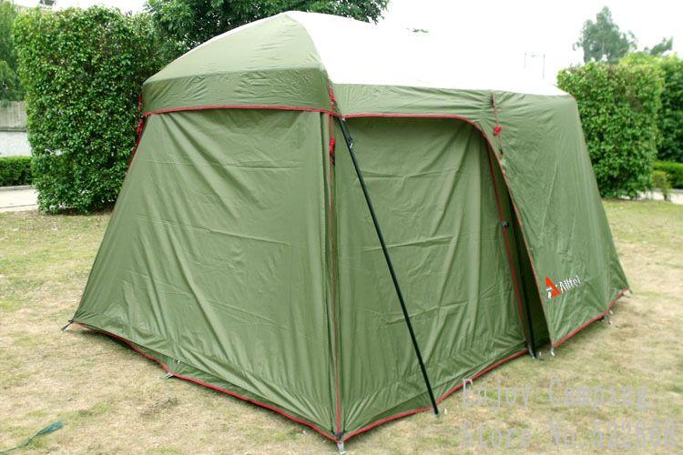 Double couche tente de jardin 3-4 personnes grande famille camping tente chine extérieure 4 saisons touristique étanche tentes 2 pièces avec 3 mur