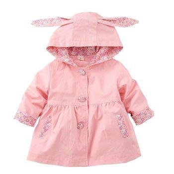 À capuchon Bébé Filles Manteau Enfants Coton Veste Vêtements Pour Filles 1-4 Ans Printemps Automne Manteau Fille Coupe-Vent KF255