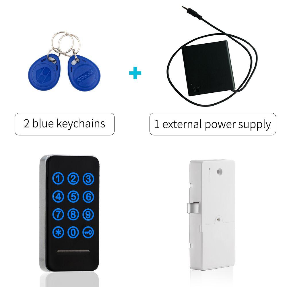 Touch-tastatur Anzahl Passwortsperre Schlüsselkarte Metall Digitale Elektronische Schrank schrankschloss mit externe stromversorgung